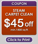 steam carpet clean coupon